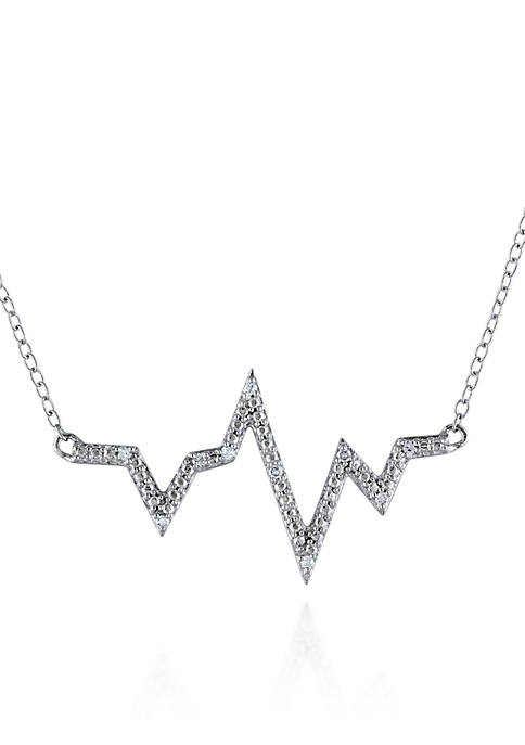 Belk & Co. Diamond Zigzag Necklace in Sterling