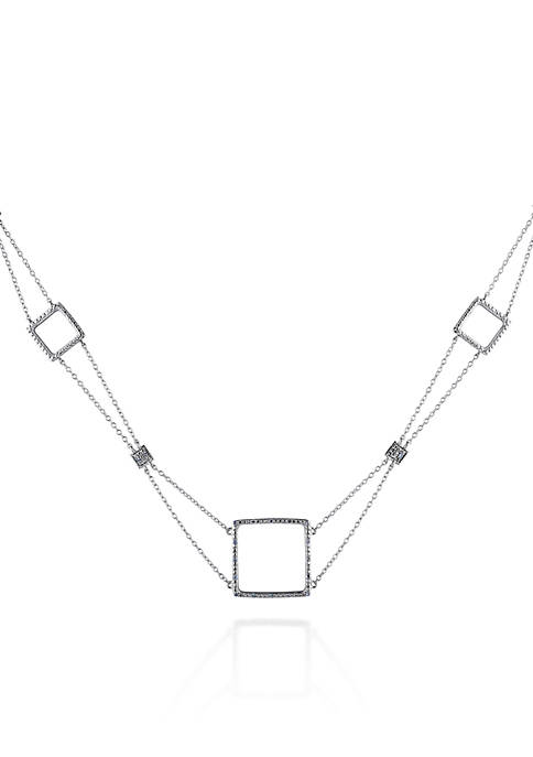 Belk & Co. Diamond Open Squares Necklace in