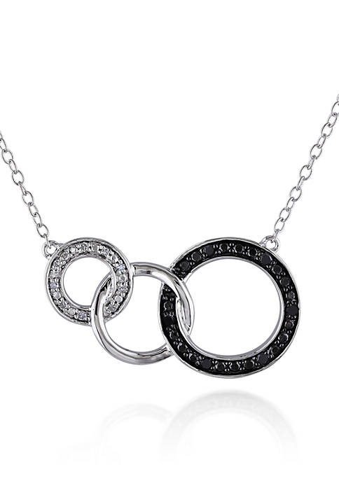 Belk & Co. Black and White Diamond Circle