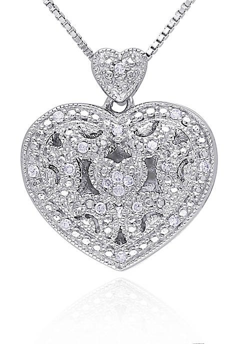 Belk & Co. Diamond Heart Locket in Sterling