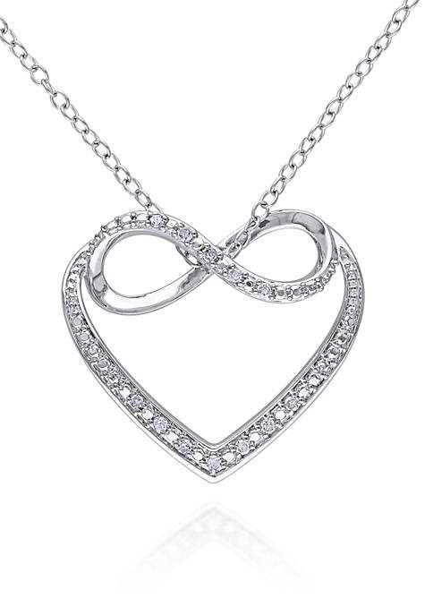Belk & Co. Diamond Infinity Heart Pendant in