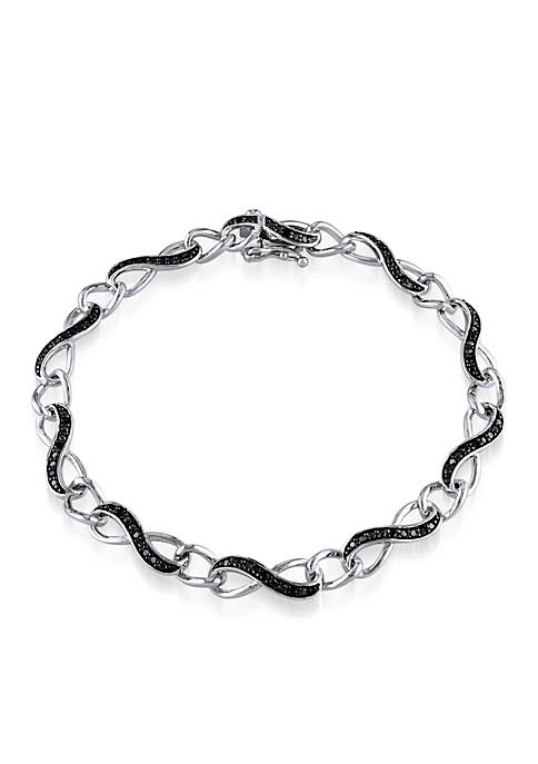 Belk & Co. Black Diamond Infinity Bracelet in