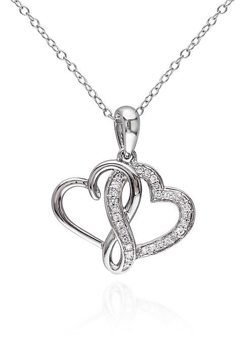 Belk & Co. Diamond Double Heart Pendant in
