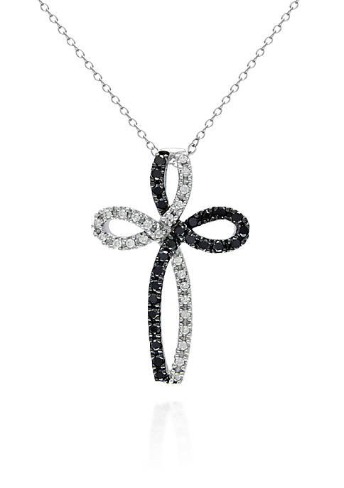 Belk & Co. Black and White Diamond Cross