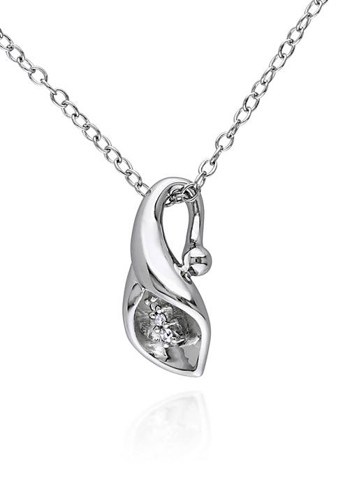 Belk & Co. Diamond Calla Lily Pendant in