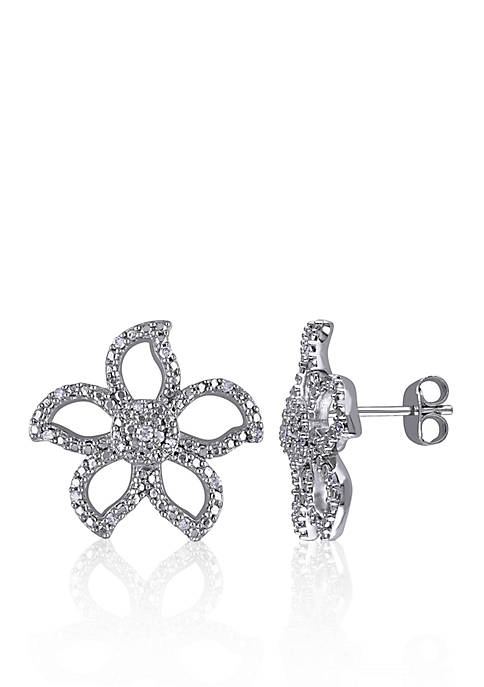 Belk & Co. Diamond Flower Stud Earrings in