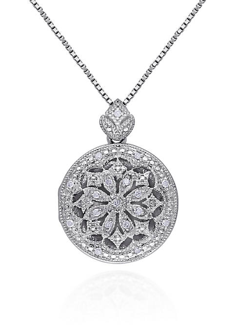Belk & Co. 1/10 ct. t.w. Diamond Locket