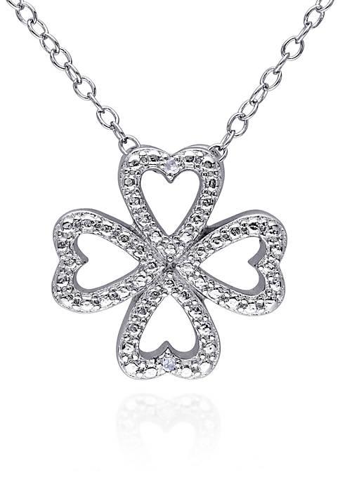 Belk & Co. Diamond Clover Heart Pendant in