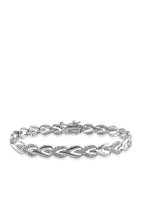 Belk & Co. Diamond Tennis Bracelet in Sterling