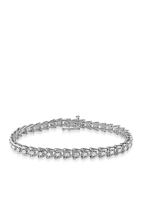 Diamond Tennis Bracelet in Sterling Silver