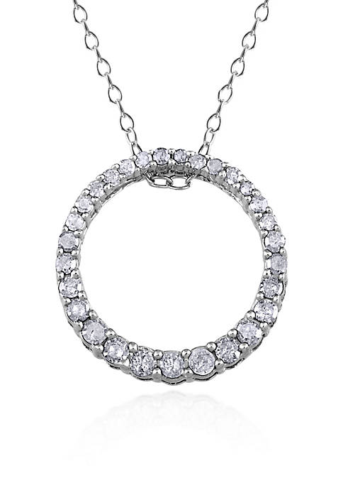 Belk & Co. Diamond Circle Pendant in Sterling