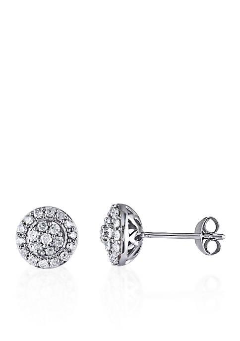 1/2 ct. t.w. Diamond Stud Earrings in Sterling Silver