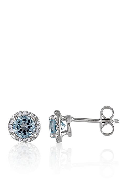 Belk & Co. Sterling Silver Blue Topaz and