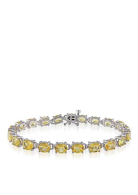 Belk & Co. Sterling Silver Citrine Bracelet