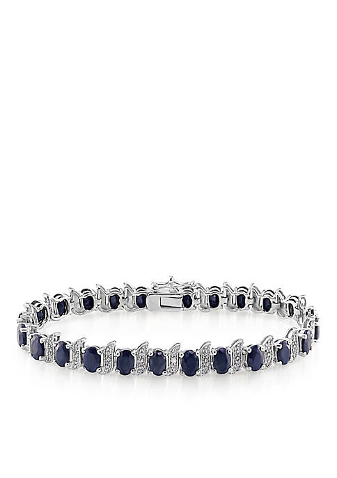 Belk & Co. Sterling Silver Black Sapphire and