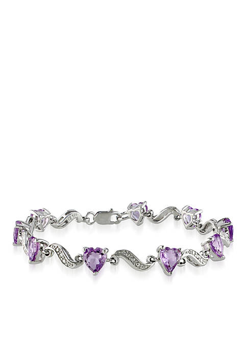 Belk & Co. Sterling Silver Amethyst and Diamond