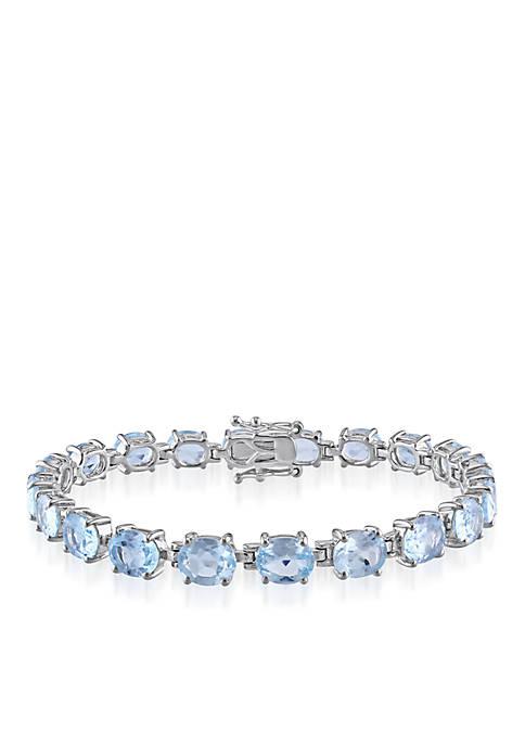 Belk & Co. Sterling Silver Blue Topaz Bracelet