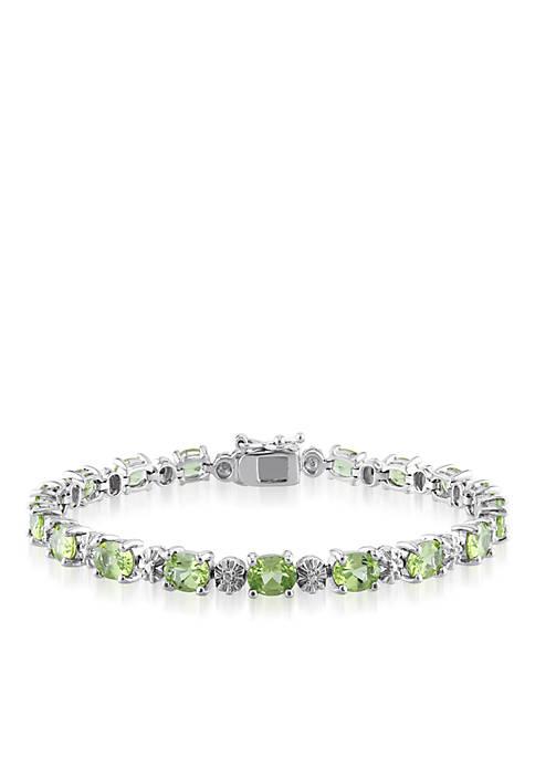Belk & Co. Sterling Silver Peridot and Diamond