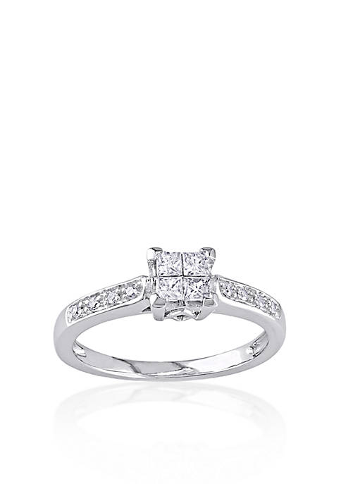 1/4 ct. t.w. Diamond Engagement Ring in 10k White Gold