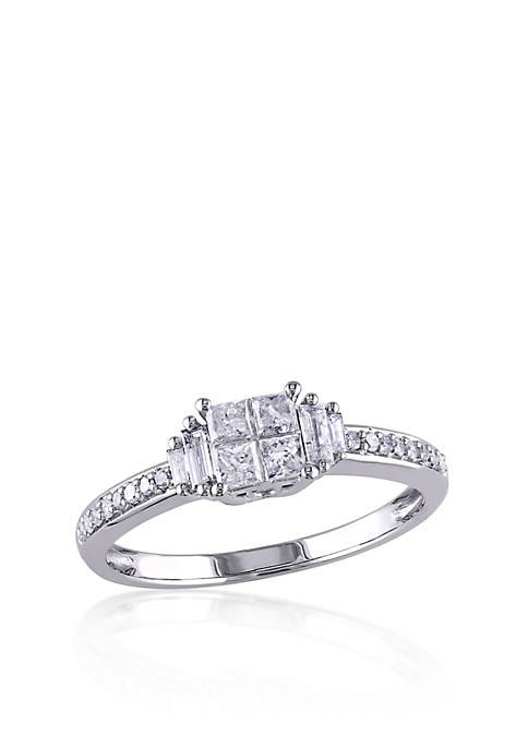 1/2 ct. t.w. Diamond Promise Ring in 10k White Gold
