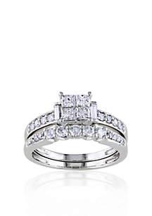 1 ct. t.w. Diamond Bridal ring Set in 10k White Gold
