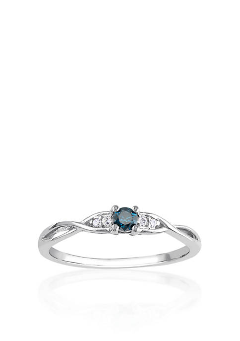 Belk & Co. Blue and White Diamond Promise