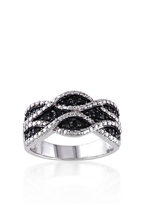 Belk & Co. Black Diamond Ring in Sterling