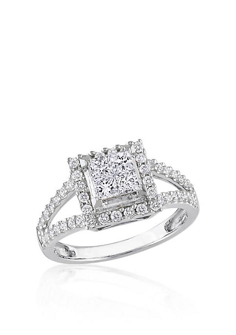 Belk & Co. Diamond Cluster Ring in 14k