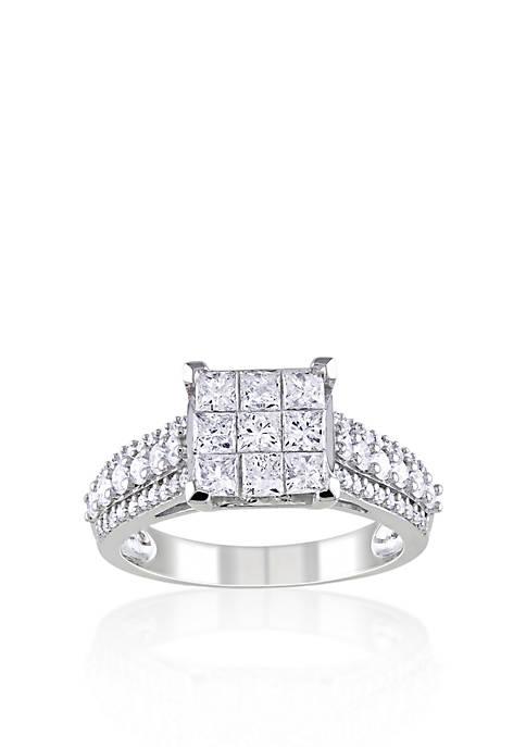 Diamond Ring in 10k White Gold