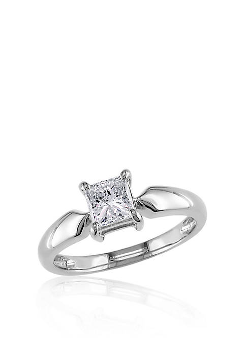 Belk & Co. Diamond Solitaire Ring in 14k