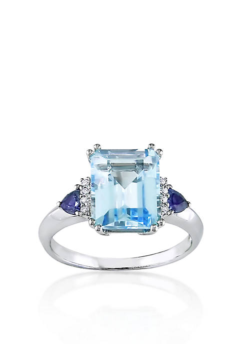 Belk & Co. 14k White Gold Blue Topaz,