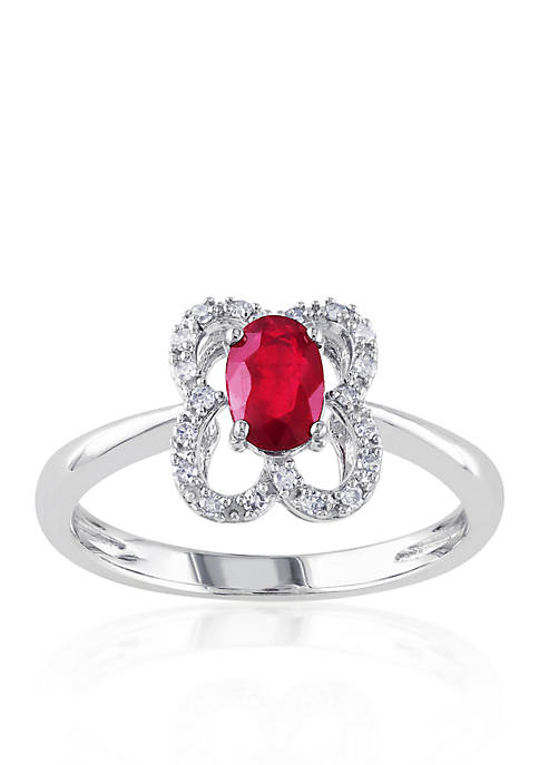 Belk & Co. 10k White Gold Ruby and