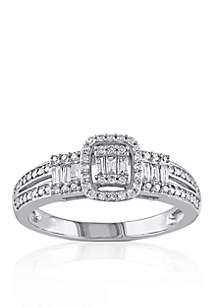 Belk & Co. 1/3 ct. t.w. Diamond Engagement Ring in 10k White Gold