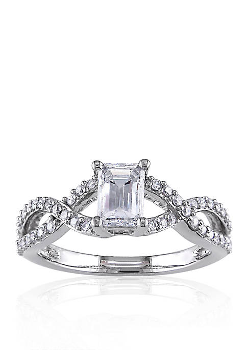 7/8 ct. t.w. Diamond Engagement Ring in 14k White Gold