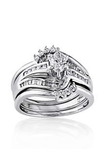 3/4 ct. t.w. Diamond Bridal Ring Set in 14k White Gold