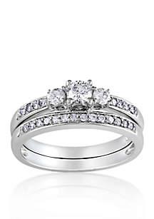 1/2 ct. t.w. Diamond Bridal Ring Set in 14k White Gold
