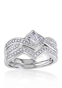 5/8 ct. t.w. Diamond Bridal Ring Set in 14k White Gold