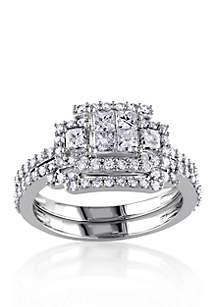 1.20 ct. t.w. Diamond Bridal Ring Set in 14k White Gold