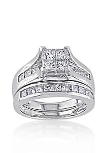 2 ct. t.w. Diamond Bridal Ring Set in 14k White Gold