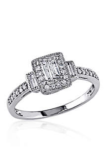 1/3 ct. t.w. Diamond Engagement Ring in 14k White Gold