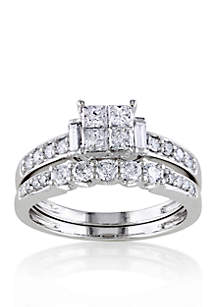 1 ct. t.w. Diamond Bridal Ring Set in 14k White Gold