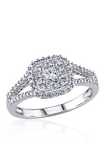 1/2 ct. t.w. Diamond Engagement Ring in 14k White Gold
