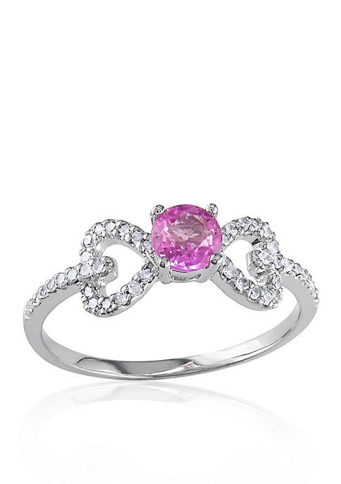 Belk & Co. 10k White Gold Pink Sapphire