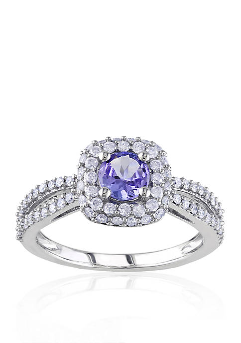 Belk & Co. 14k White Gold Tanzanite and