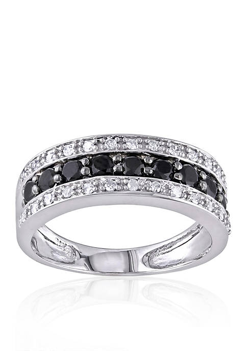 Belk & Co. White and Black Diamond Band