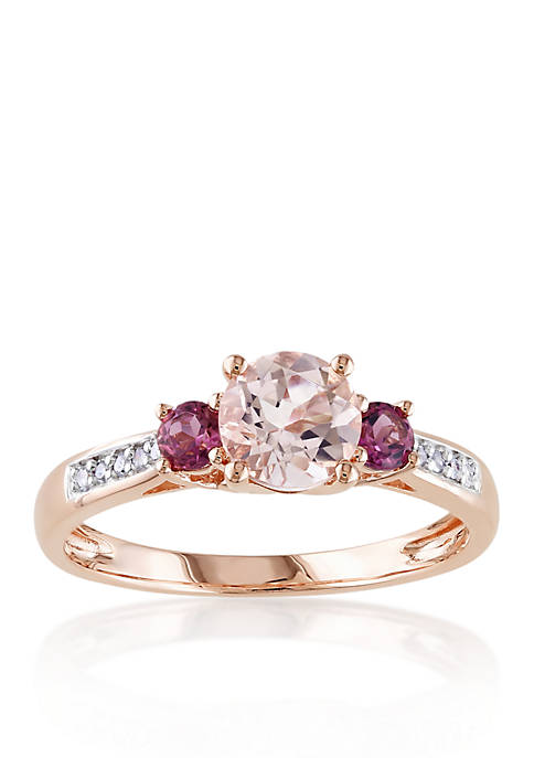 Belk & Co. 10k Rose Gold Morganite, Pink