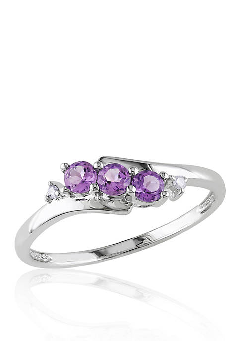 Belk & Co. 10k White Gold Amethyst and