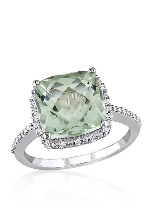 Belk & Co. 10k White Gold Green Amethyst