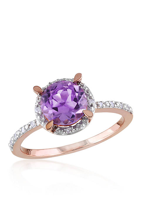 Belk & Co. 10k Rose Gold Amethyst and