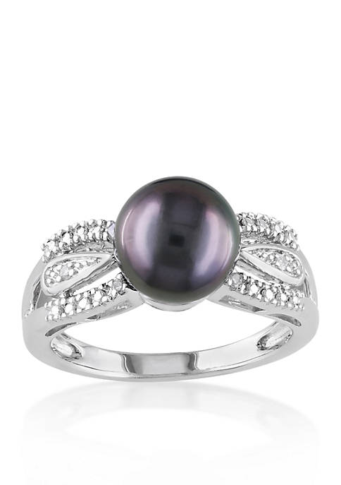 Belk & Co. Sterling Silver Black Tahitian Pearl